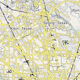 Houston, Texas Map, Map of Houston, Texas city on